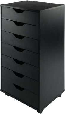 Winsome Halifax Storage Organization 7 drawer Black