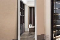 self Large Full Length Body Mirror for Floor & Wall in Bedroom - Polystyrene Frame Big & Tall Standing Mirrors for Leaning - Long Full-Length Leaner Mirror Size 65inch x 22inch (Ivory)