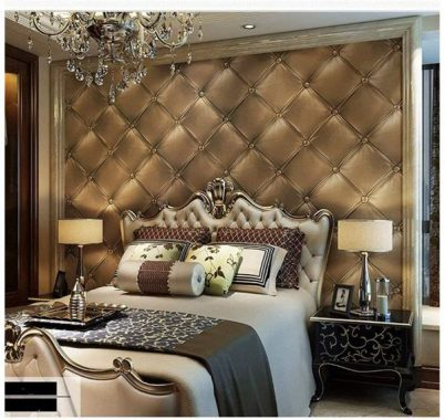 Blooming Wall 3D Faux Leather Textured Backgound Wall Pattern Wallpaper Roll for Livingroom Bedroom