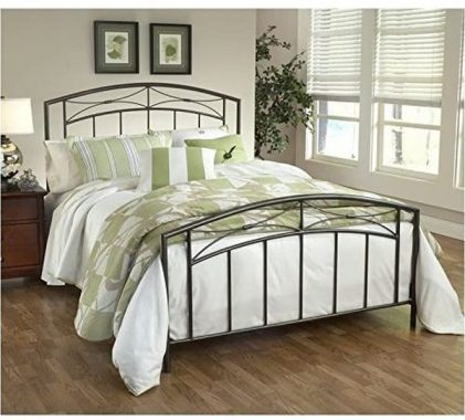 Hillsdale Furniture Morris Bed Set with with Rails, Full, Magnesium Pewter
