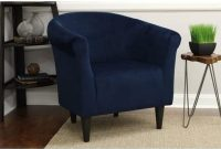 Mainstays Microfiber Bucket Accent Padded Chair (Navy Blue)