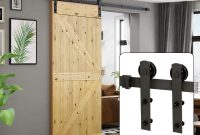 U-MAX 6 Ft Sliding Barn Door Hardware Kit -Heavy Duty Sturdy, Smoothly and Quietly -Easy to Install - Fit 36-40 Wide Door Panel (I Shape Hanger)