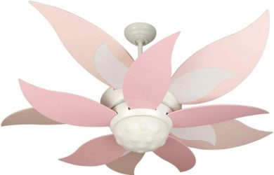 Craftmade K10368 Bloom 52 Ceiling Fan with CFL Lights and Remote & Wall Control, 10 Blades, White