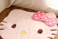 EKEA-Home The New Style Of Wool Blend Hello Kitty Creative Doormat Antiskid Suction Pad Area Rugs Mats Pink