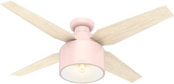Hunter Fan Company 50263 Cranbrook Ceiling Fan, 52, Blush Pink