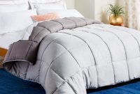 Linenspa Reversible Down Alternative Quilted Comforter, Full, Stone Charcoal