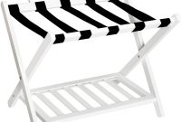 WELLAND Wood Collapsible Foldable Luggage Rack Holder with Shelf Suitcase Luggage Stands for Guest Room