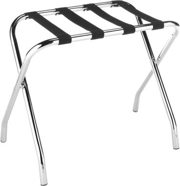 Whitmor Chrome Luggage Rack - Foldable - Commercial Quality
