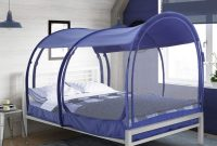 Alvantor Mosquito Net Canopy Bed Dream Privacy Space Full Size Sleeping Tents Indoor Pop Up Portable Frame Breathable Cottage Navy (Mattress Not Included)