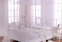 Cotton Loft Heavenly Crystal 4-Post Sheer Mosquito Netting Bed Canopy, One Size, White