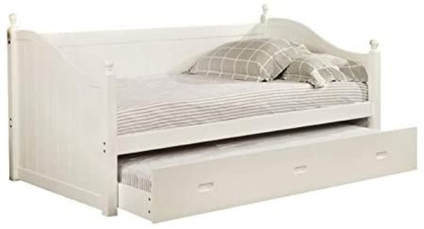 Furniture of America Emerson Twin Daybed with Trundle in White
