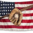 HVEST Sport Tapestry Baseball Glove and Bat Wall Hanging American Flag Wall Tapestry for Bedroom Living Room Dorm Party Wall Decor,60Wx40H inches