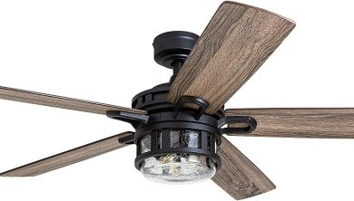 Honeywell Ceiling Fans 50690-01 Bonterra, 52 inches, Matte Black