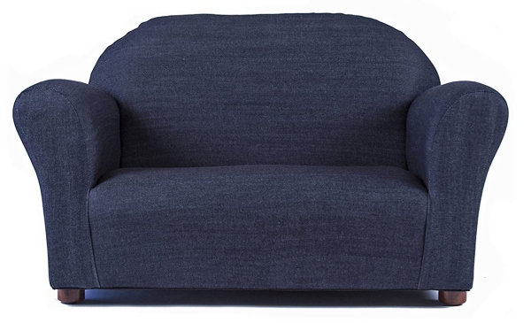 Keet Roundy Denim Children's Sofa, Blue