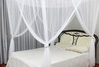 MAGILONA Home 4 Corner Hanging Bed Canopy Cover Mosquito Net Bedding or Outdoors Netting Repellent Fit Twin, Full, Queen, King Bed Protection Bedroom Decorative (White)