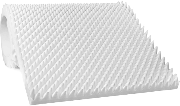 Vaunn Medical Egg Crate Convoluted Foam Mattress Pad - Thick EggCrate Mattress Topper (Standard Bed Twin Size)