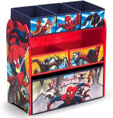 Delta Children 6-Bin Toy Storage Organizer, Spider-Man