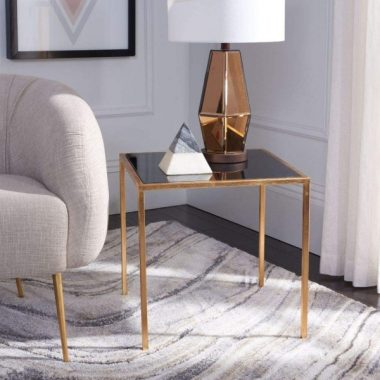 Safavieh Home Collection Kiley Gold Black Accent Table