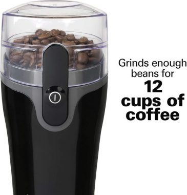 Hamilton Beach Fresh Grind 4.5 Oz Electric Coffee Grinder for Beans, Spices and More, Stainless Steel Blades, Black