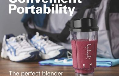 Hamilton Beach Personal Blender for Shakes and Smoothies with 14 Oz Travel Cup and Lid, Black (51101AV)