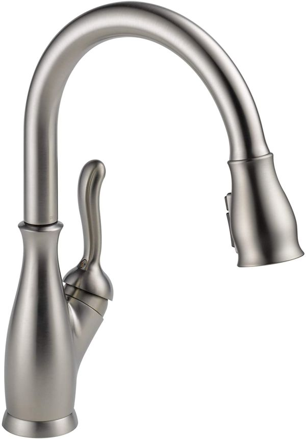 Delta Faucet Leland Single-Handle Kitchen Sink Faucet with Pull Down Sprayer, ShieldSpray Technology and Magnetic Docking Spray Head, SpotShield Stainless 9178-SP-DST