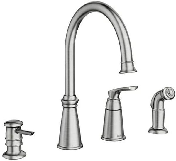Moen 87044SRS Whitmore One-Handle High Arc Kitchen Faucet, Spot Resist Stainless