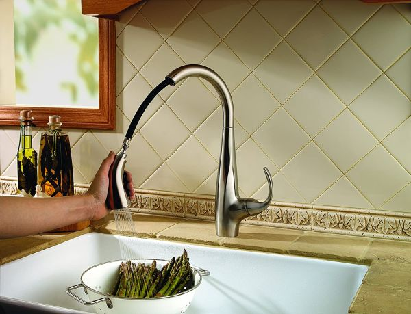 Pfister LF5297ANS Avanti 1-Handle Pull Down Kitchen Faucet, Stainless Steel, 1.8 gpm